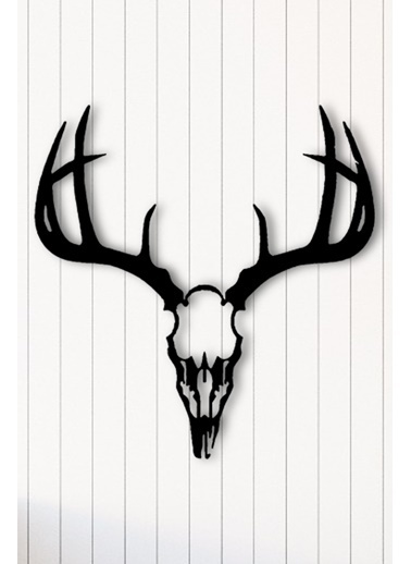 Angemiel Home Deer Metal Duvar Tablosu Siyah
